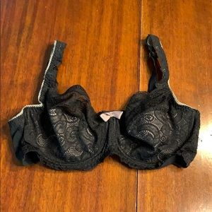 New Black Lace Playtex Bra Size 38 D